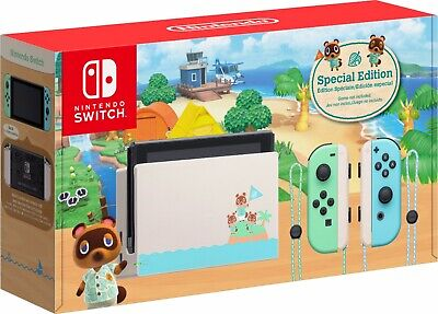 Nintendo Switch Console 32GB Animal Crossing New Horizons Edition - IN HAND
