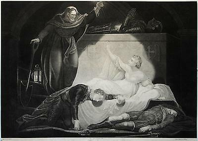 Lithographie - Romeo und Julia - gez. v.G. Kisling nach James Northcote 19. Jh