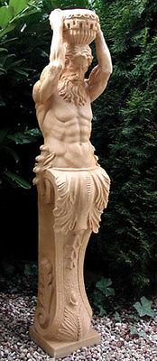 Säule Galionsfigur Statue Kore Figur Gartenfigur Karyatide Atlant 131cm St04-3-a