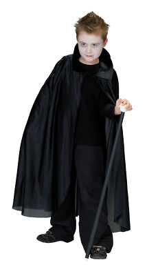 Halloween Kinder Kostüm Vampir Cape extra lang mit Kragen (Vampir Kind Cape Kostüme)