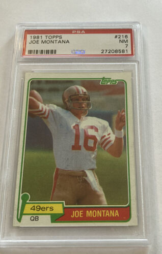 1981 Topps 216 Joe Montana Psa 7 - $30.00