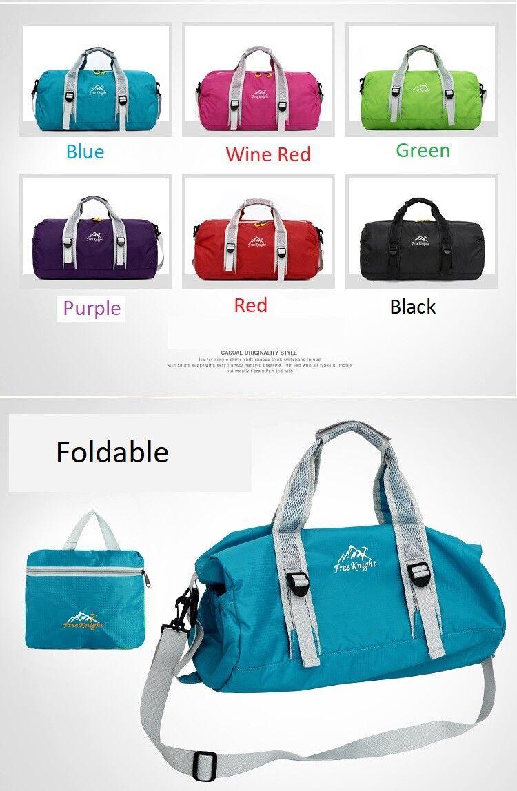 "Foldable 26"" Heavy Duty Tote Gym Sports Bag Duffel Travel Ca"