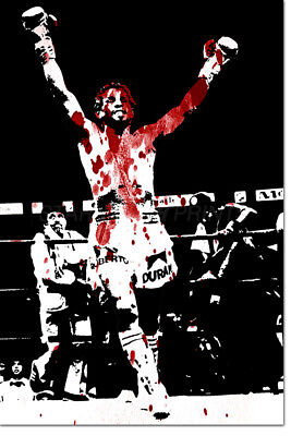"ROBERTO DURAN ""HANDS OF STONE - ART PHOTO PRINT POSTER - 12 X 8 INCH (A4)"
