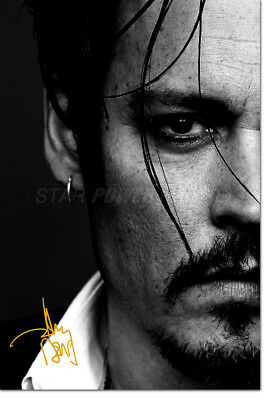 JOHNNY DEPP PRE SIGNED PHOTO PRINT POSTER N.O 2 - 12 X 8 INCH - SWEENEY TODD