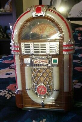 Leadworks Mini Wurlitzer Collectible Jukebox Great Condition