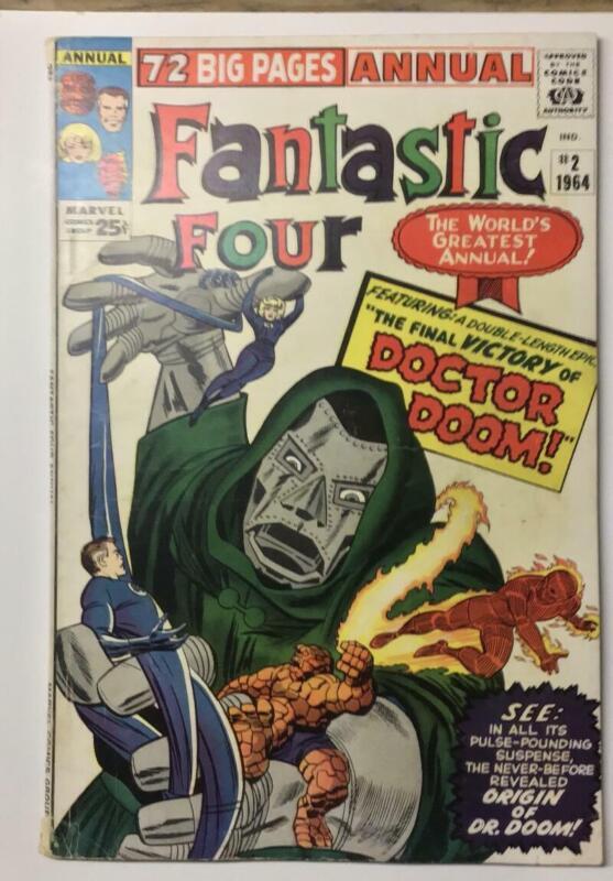 Fantastic Four Annual #2/Marvel Comic Book/Origin of Dr. Doom/VG-FN