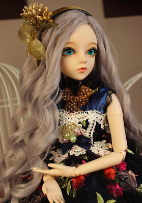 "Fashion FULL SET BJD 24"" 1/3 Handmade PVC MSD Girl Dolls W Wig Clothes Mode Toy"