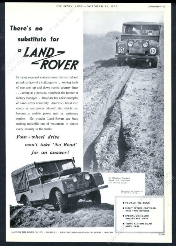 1955 Land Rover 86 standard SUV 2 photo UK vintage print ad