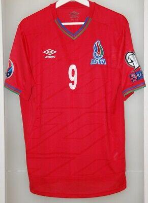 Match worn shirt jersey Azerbaijan national team Euro 2016 France qualification image