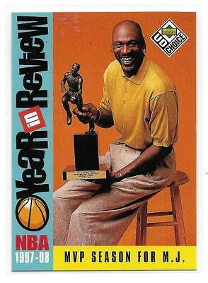 1998-99 Upper Deck Choice Michael Jordan Year in Review Base Card