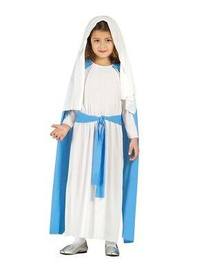 Kinder Mädchen Jungfrau Maria Weihnachten Kostüm 4 Größen Kostüm - Jungfrau Maria Kostüm Kinder