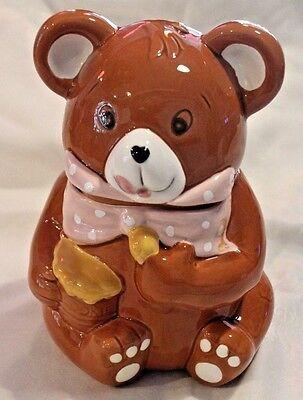 SWEET Vintage Cookie Jar- Brown Teddy Bear (G)