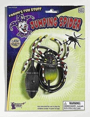 1-BLACK JUMPING SPIDER Big Bug Fake Halloween Joke Prank Gag Jump Scary Fun Toy  - Black Jumping Spider