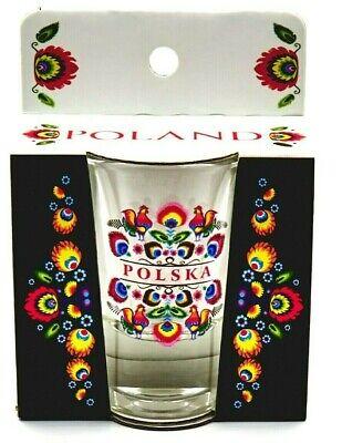 Shot Glass For Vodka POLSKA POLAND Lowickie Polish GIFT