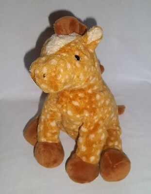 2006 TY Pluffies Plush LASSO HORSE Spotted Pony Baby Tylux Stuffed Brown Beanie