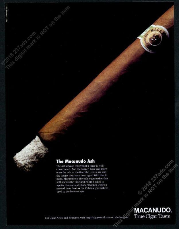 1996 Macanudo cigar classic photo vintage print ad