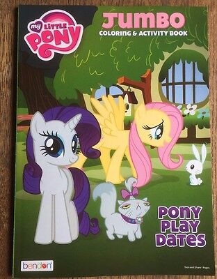 My Little Pony Jumbo Coloring and Activity Book Pony Play Dates New Free Ship