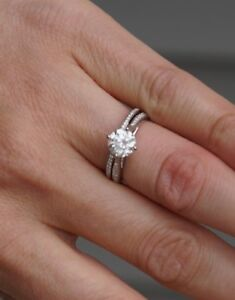 Simon G Engagement Ring set- Selling at a third of the price!!