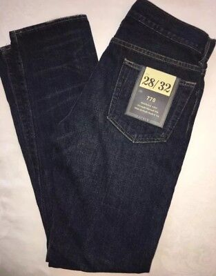 J Crew Jeans 28 32 770 37875 Dark Worn Wash $98 NWT NEW
