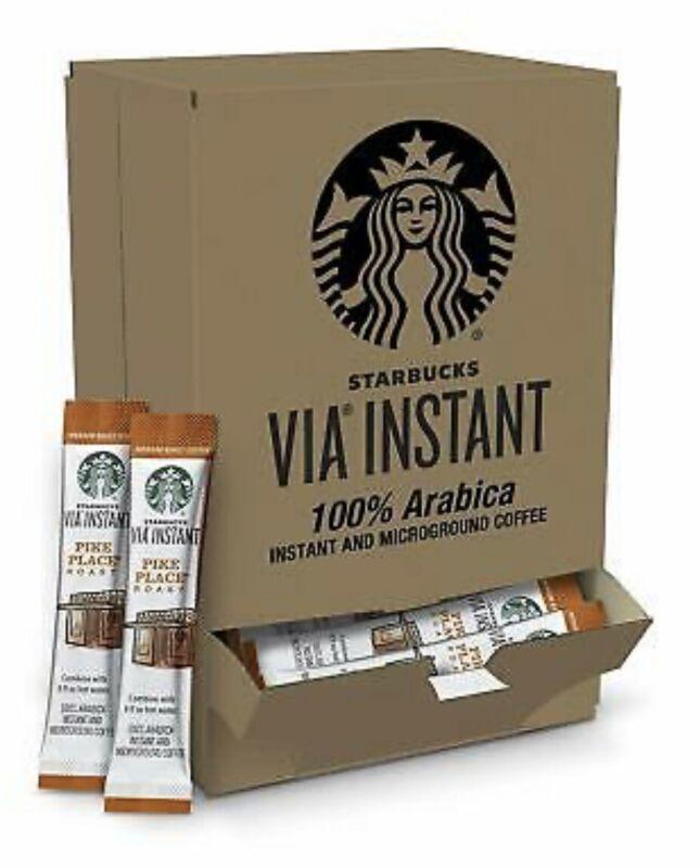 Starbucks VIA Pike Place Instant Medium Roast 50 packs FREE SHIP! BBD 11/2020