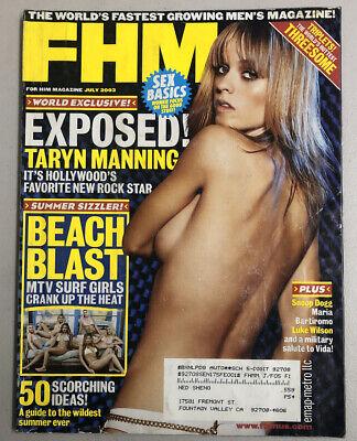 FHM Magazine July 2003 Taryn Manning Luke Wilson Free Shipping