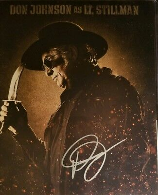 Don Johnson Hand Signed 8x10 Photo W/ Holo COA Machete Lt. Stillman