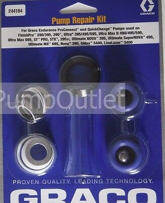 Graco 244194 Pump Repair Kit Packing Kit 244-194