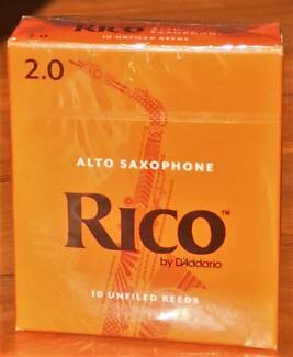 Rico Altosaxophone reeds 2 Strength box of 10 NEW