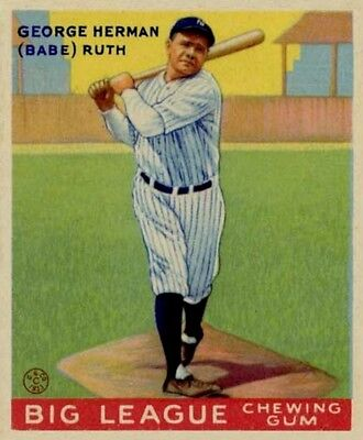 Lot Of 25 Reprint 1933 Goudey  144 Babe Ruth  New York Yankees