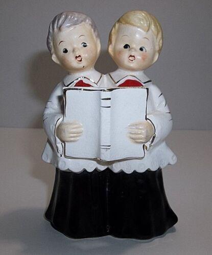 Vintage Lefton CHRISTMAS CAROLER Boys