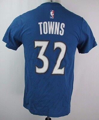 Minnesota Timberwolves Men's S #32 Towns Net Player T-Shirt NBA adidas