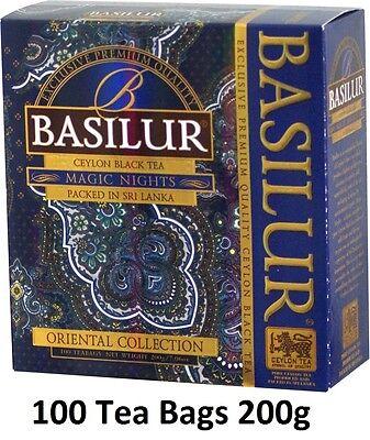 Basilur Oriental   Magic Nights Tea Cranberry  Pineapple   Papaya 100 Tea Bags