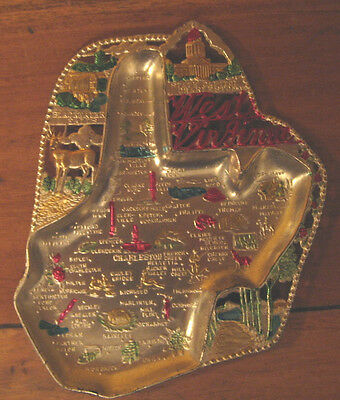 No Ifs, Ands or Butts--Vtg Aluminum West Virginia Souvenir Ashtray is Fabulous!