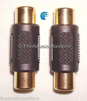 2X RCA Cable Coupler Splice Female Audio Video Connector Jac