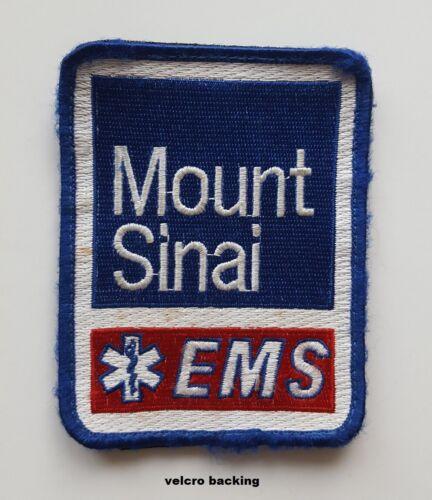 Mount Sinai Hospital EMS Ambulance New York City patch hook loop back, new cond