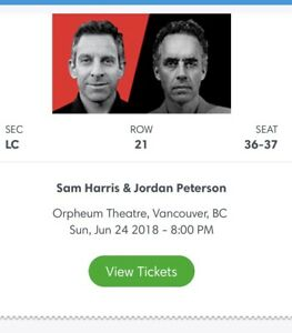Sam Harris and Jordan Peterson tickets
