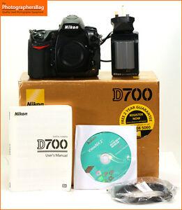 Nikon-D700-Digital-SLR-Cuerpo-De-Camara-Cargador-De-Bateria-Free-UK-Post