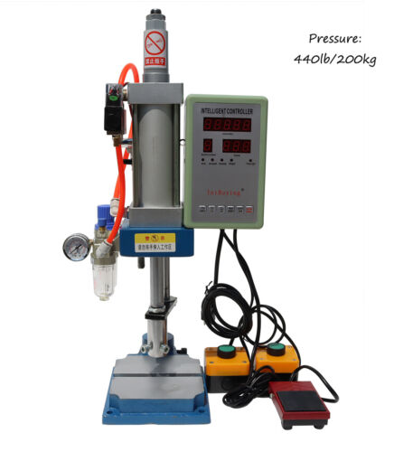 INTBUYING 110V 440Lb/200kg Pneumatic Punch Machine with Display Controller