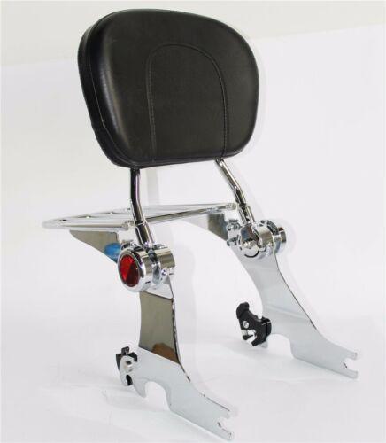 Chrome Backrest Sissy Bar Luggage Rack For Harley Sportster 94-03 Adjustable