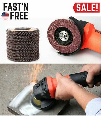 4.5 T27 10x Flat Flap Disc Grinding Sanding Sandpaper Wheels 40 60 80 120 Grit
