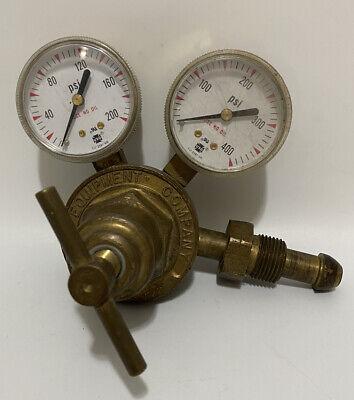 Victor Compressed Acetylene Gas Regulator Valve Gauge Sr260a 350 Psig Brass