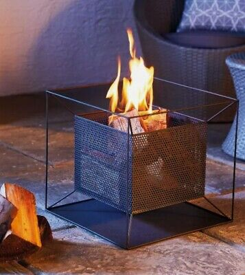 🔥 Brand New Gardenline Square Fire Basket Chiminea Fire Pit Burner Free P&P🚚✅