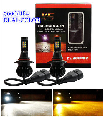 2PCS 9006/HB4 160W LED 6000K White/3000K Orange Dual Color Fog Driving DRL Bulb comprar usado  Enviando para Brazil