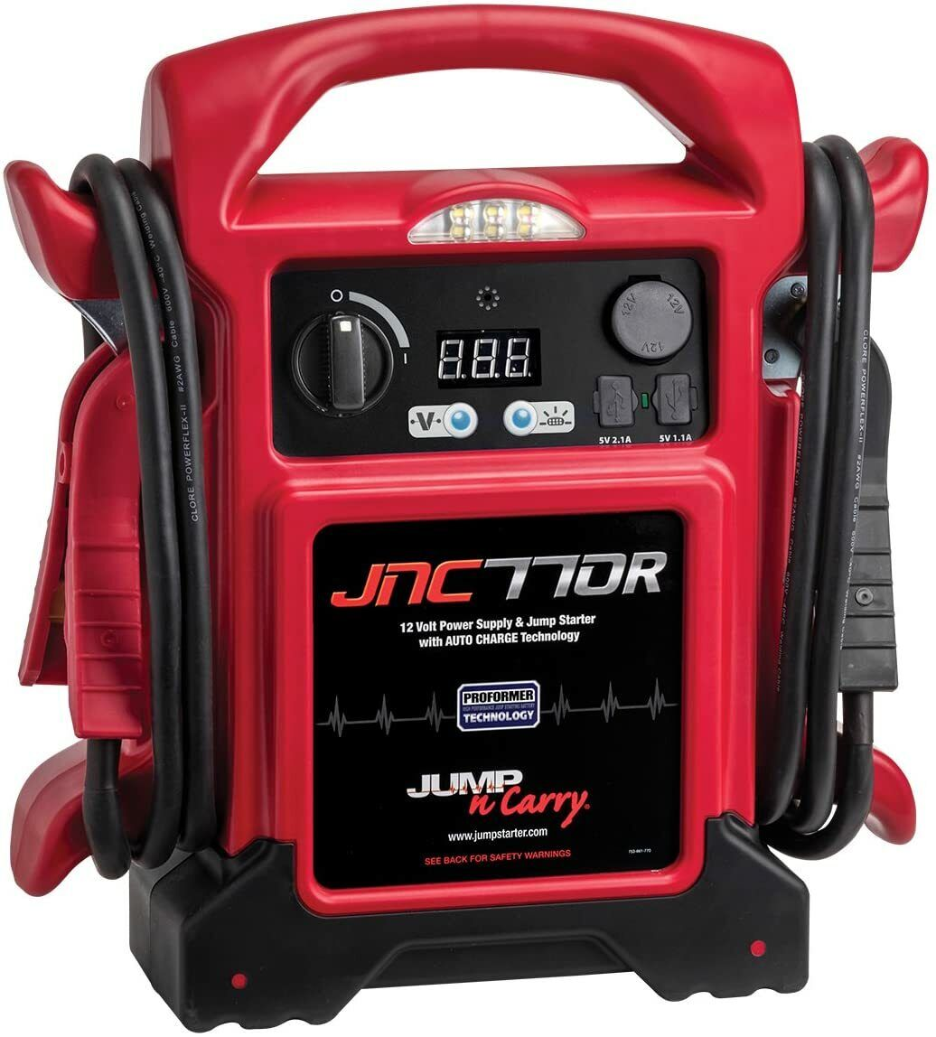 NEW - Clore Automotive JNC770R Jump-N-Carry Red 1700 Peak Amp Premium 12 Volt