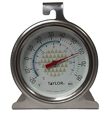 Taylor Freezer / Refrigerator Thermometer - Stainless Bite the bullet