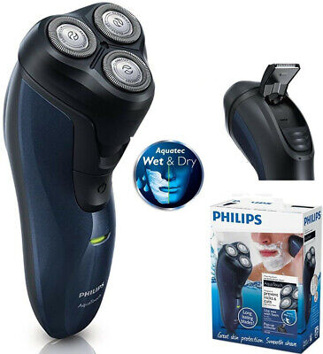 Philips AT620/14 Rasierer AquaTouch Akkugerät - Wet&Dry - marineblau/schwarz