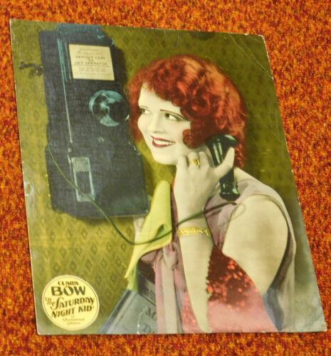THE SATURDAY NIGHT KID 1929 Pre-Code Clara Bow COLOR JUMBO LOBBY CARD Telephone