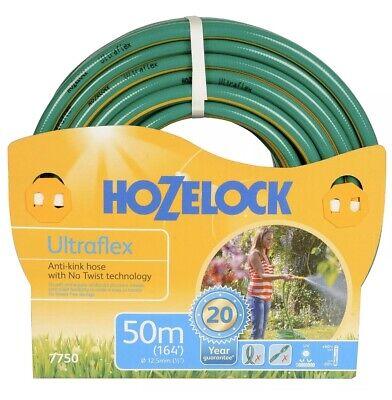 Hozelock 50m Ultraflex Hose, 12.5mm Flexible Anti-Kink No-Twist Garden Hose Pipe