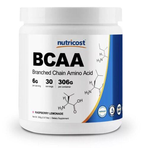 Nutricost BCAA 2:1:1 Powder (Raspberry Lemonade) 30 Servings - 6G Per Serving