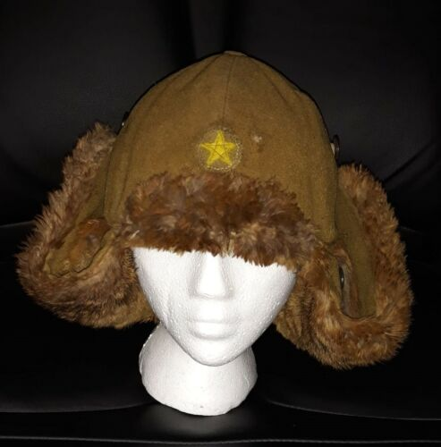 WW2 Imperial Japanese Army Cold Weather Fur Hat SHOWA 12 (1937)